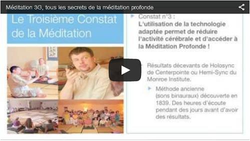 Méditation 3G avec Claude Cléret. La preuve en vidéo !